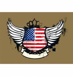 American grunge emblem vector