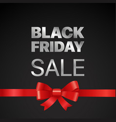 black friday concept black friday sale tag with vector image vector image