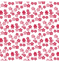 Cherry tree flowers pattern vector