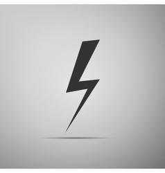 Lightning bolt on grey background Adobe vector image vector image