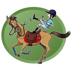 Rider falling vector image