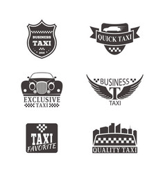 taxi badge car service business sign template vector image