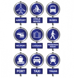 transport collection vector image vector image