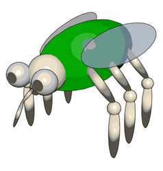 3d model a fly on white background vector image