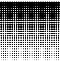 black halftone dots on white background vector image