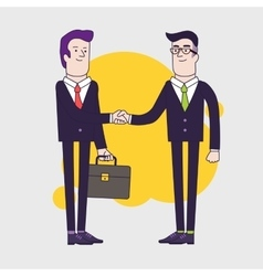 Businessmen shaking hands Two businessmen have vector image