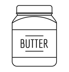 Butter nut icon outline style vector