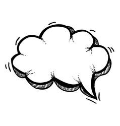 cartoon image of speech bubble icon chat symbol vector image