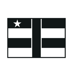 Central african republic flag monochrome on white vector