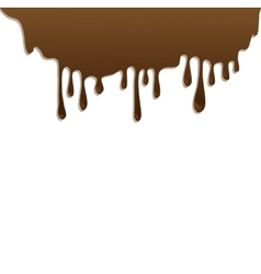 Chocolate streams isolated on white vector