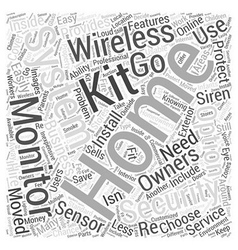 Choosing and using a wireless home security system vector