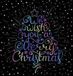 christmas wish with rays vector image