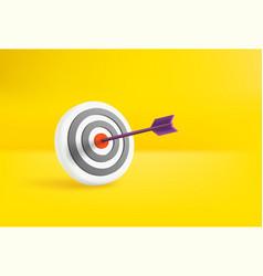 Circle dartboard and arrow in bullseye vector