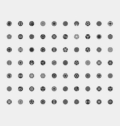 circle icon set logo concept design element sign vector image