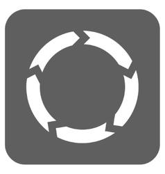 Circulation Flat Squared Icon vector