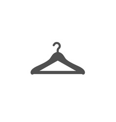 Cloakroom simple icon hanger wardrobe sign vector