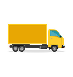 delivery truck flat style vector image