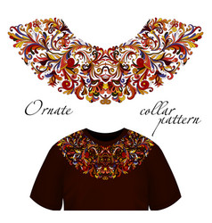 Design for collar t-shirts and blouses vector