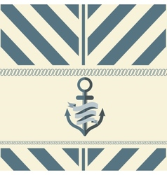 Design Template With Anchor vector