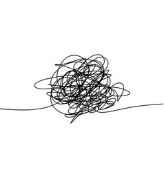 Doodle tangle mess 2 vector