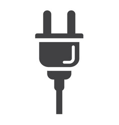 electric plug solid icon power and appliance vector image