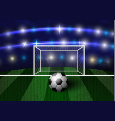 football arena with a soccer ball vector image
