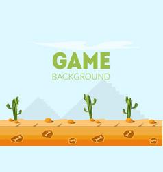 Game background banner template desert natural vector