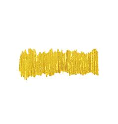 Golden brush smear spot vector