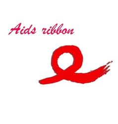 Hand-drawn ribbon symbolizing AIDS vector image