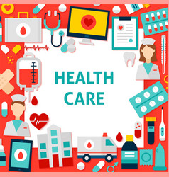 health care paper template vector image