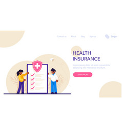 Health insurance hospital and medical care vector