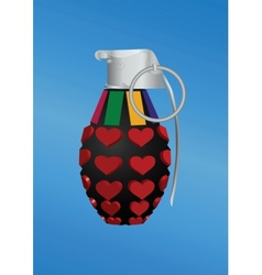 Heart-shape grenade icon vector