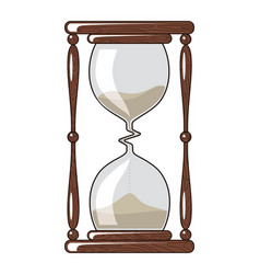 hourglass slowing down time vector image