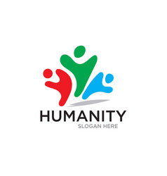 humanity save care logo designs vector image
