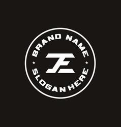 Initial letter je logo design icon vector
