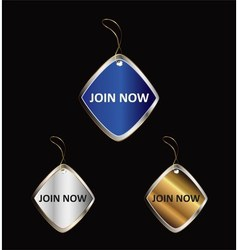 Join Now Label Icon Design vector