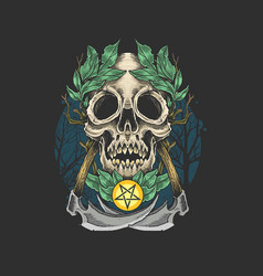Kull dead epidemy artwork symbol vector
