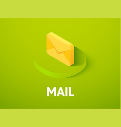 Mail isometric icon isolated on color background vector