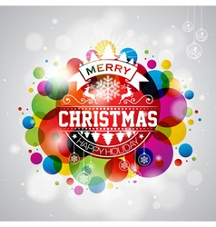 Merry Christmas Holiday with typography design vector