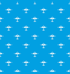 military fighter aircraft pattern seamless blue vector image