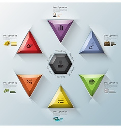 Modern Fusion Triangle And Hexagon Business vector