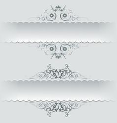 Ornamental decorative paper frames banner vector
