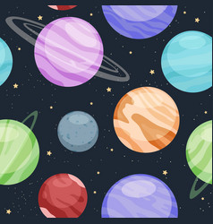 pattern solar system with sun and planets vector image
