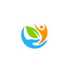 People care logo icon design vector