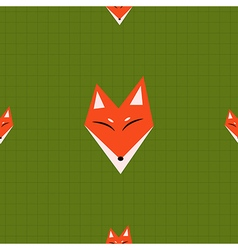 Red Fox Green Background vector