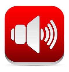 Red speaker icon vector