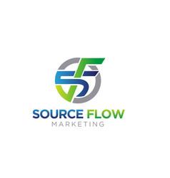 S f business marketing logo designs simple modern vector
