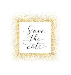 Save the date card hand written custom vector