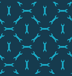 seamless pattern with wrench vector image