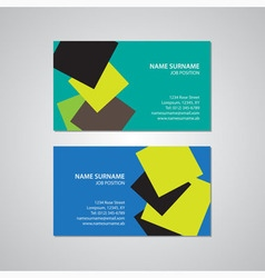 Set - two business cards vector